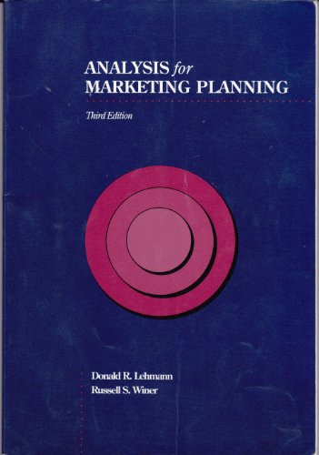 9780256122763: Analysis for Marketing Planning (The Irwin Series in Marketing)