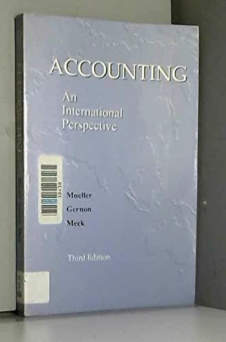 9780256124033: Accounting: An International Perspective (The Business One Irwin Professional Accounting Library)