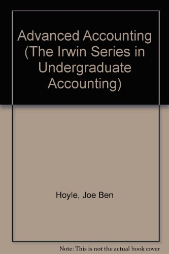 9780256124071: Advanced Accounting (The Irwin Series in Undergraduate Accounting)