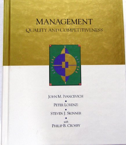 9780256124538: Management: Quality and Competitiveness