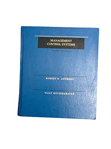 9780256131543: The Management of Control Systems (The Irwin Series in Graduate Accounting)