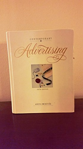 9780256134124: Contemporary Advertising, 5th ed (The Irwin series in marketing)