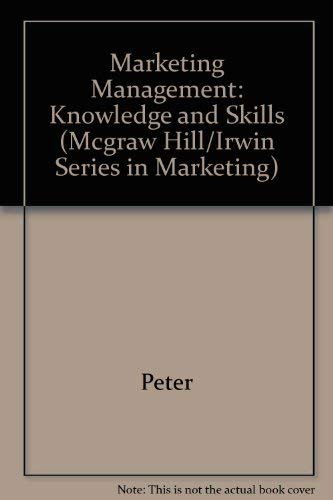 9780256137279: Marketing Management: Knowledge and Skills (Mcgraw Hill/Irwin Series in Marketing)