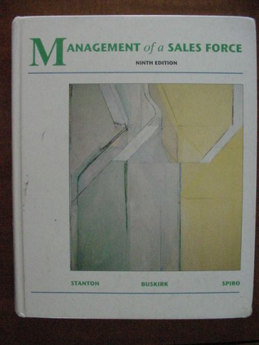 9780256138184: Management of a Sales Force
