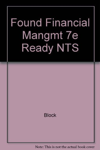 9780256138610: Found Financial Mangmt 7e Ready NTS