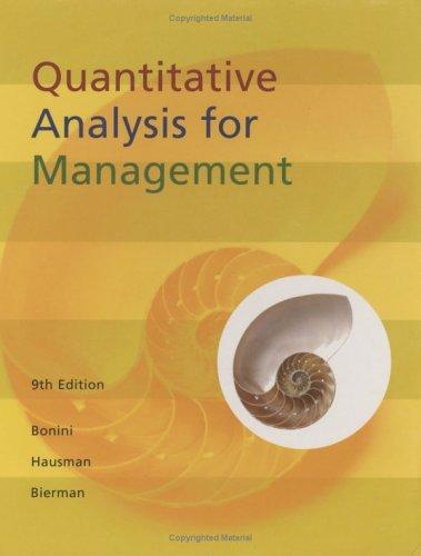 9780256140217: Quantitative Analysis For Management