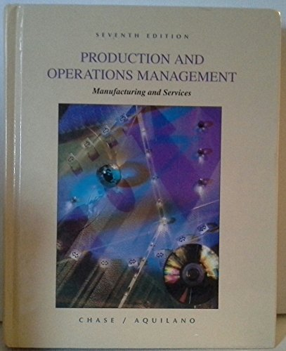 9780256140231: Production and Operations Management: Manufacturing and Services