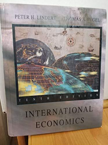 9780256140262: International Economics (Irwin Series in Economics)