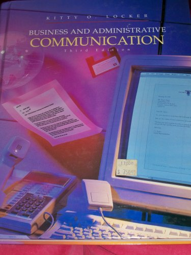 9780256140644: Business and Administrative Communication