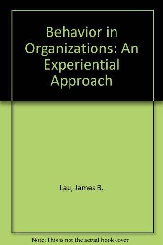 9780256141153: Behavior in Organizations