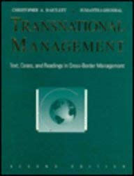 9780256141382: Transnational Management: Text, Cases, and Readings in Cross-Border Management