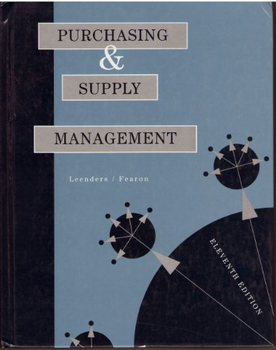 9780256141443: Purchasing and Supply Management