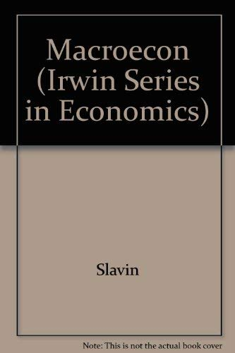 9780256141801: Macroeconomics (Irwin Series in Economics)