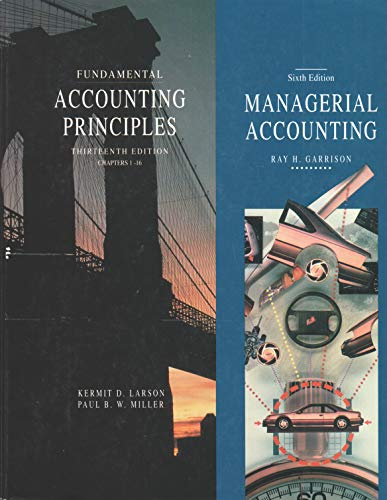 9780256145649: Fundamental Accounting Principles: Chapters 1-16/Managerial Accounting : Concepts for Planning, Control, Decision Making/2 Books in 1