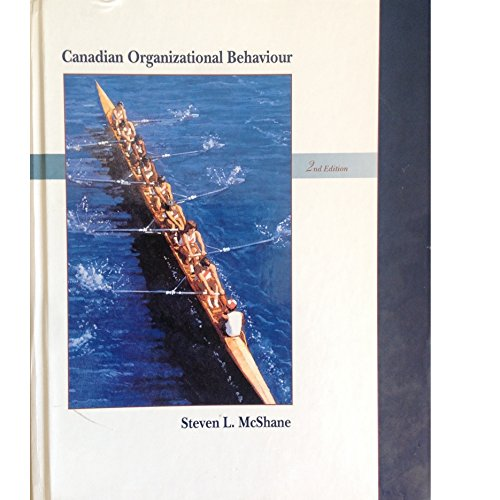 9780256145731: Canadian organizational behavior