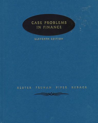 9780256145960: Case Problems In Finance