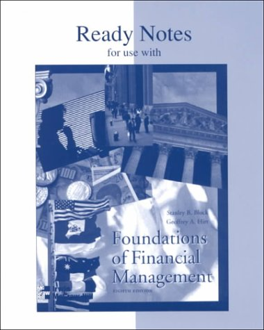 9780256146219: Ready Notes for Use With Foundations of Financial Management