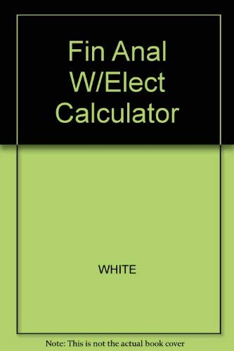 9780256148817: Financial Analysis With an Electronic Calculator