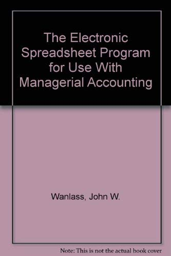 The Electronic Spreadsheet Program for Use With: Wanlass, John W.,