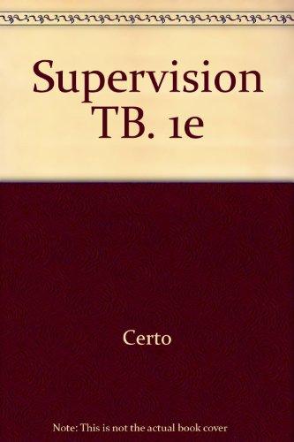 9780256149814: Supervision TB. 1e