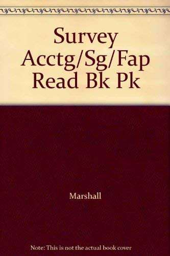 Survey Acctg/Sg/Fap Read Bk Pk: Marshall