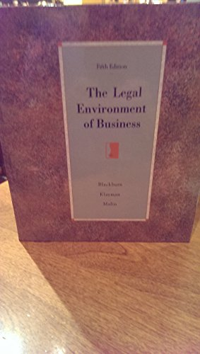 9780256155259: The Legal Environment of Business