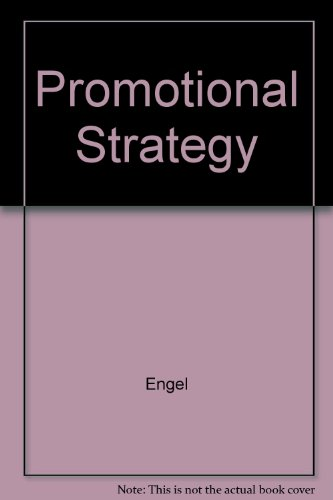 9780256155990: Promotional Strategy