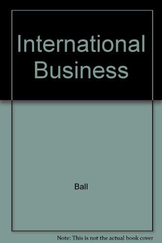 9780256156041: International Business