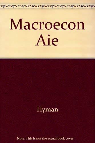 MacRoeconomics/Instructors Manual: David N. Hyman