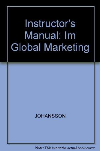 9780256160529: Instructor's Manual: Im Global Marketing