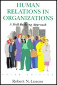 9780256162073: Human Relations in Organizations
