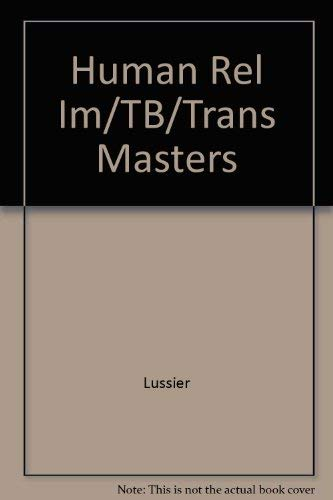 9780256162080: Human Rel Im/tb/trans Masters