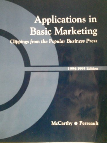 9780256166514: Basic Marketing/Applications in Basic Marketing 1994-1995