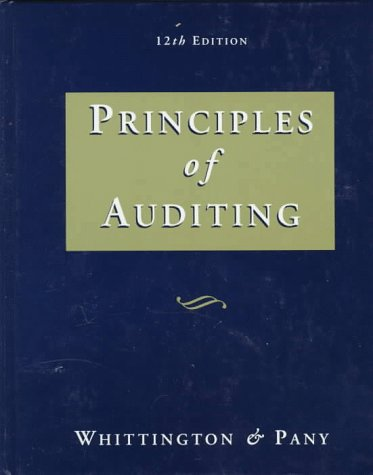 9780256167795: Principles of Auditing