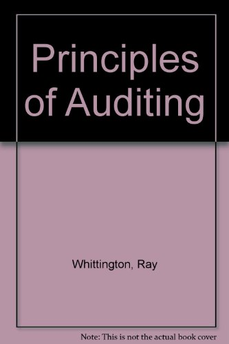 9780256167801: Principles of Auditing