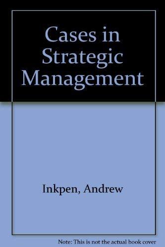 9780256167887: Cases in Strategic Management