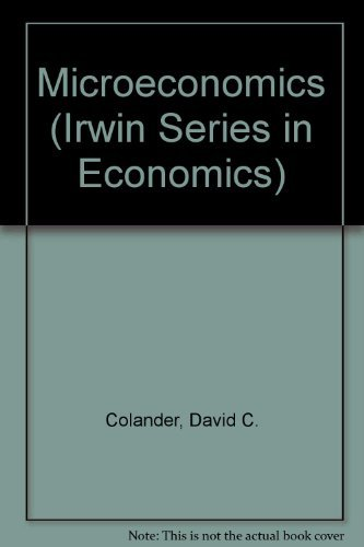 9780256168211: Microeconomics (Irwin Series in Economics)