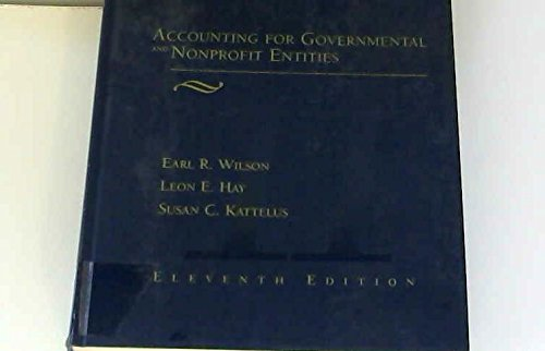 9780256168723: Accounting for Governmental and Nonprofit Entities