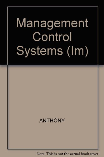 9780256168792: Management Control Systems (Im)