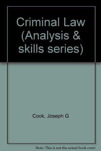 9780256185591: Criminal Law (Analysis & skills series)