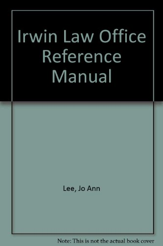 9780256187472: The Irwin Law Office Reference Manual