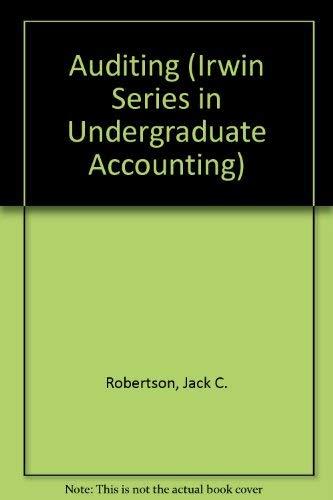 9780256188004: Auditing (Irwin Series in Undergraduate Accounting)