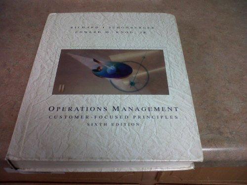 9780256194067: Operations Management: Customer-Focused Principles
