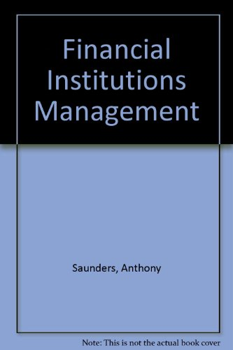9780256195750: Financial Institutions Management