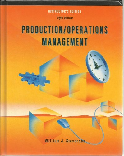 9780256197235: Production/Operations Management Fifth Edition Instructor's Edition