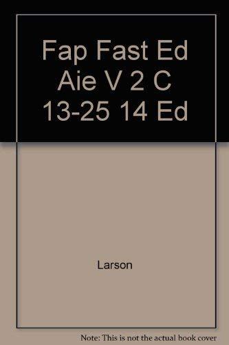 9780256201130: Fap Fast Ed Aie V 2 C 13-25 14 Ed
