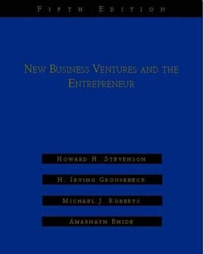 9780256204773: New Business Ventures And The Entrepreneur