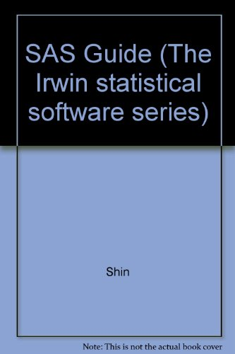 9780256206500: SAS Guide (The Irwin statistical software series)