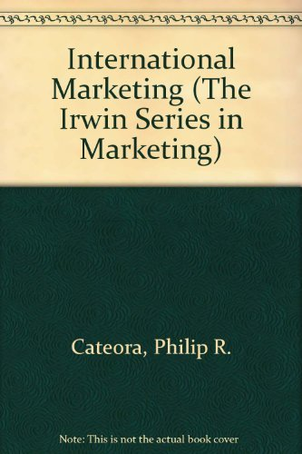 9780256206821: International Marketing (The Irwin Series in Marketing)