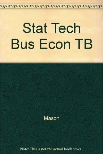9780256206944: Stat Tech Bus Econ TB